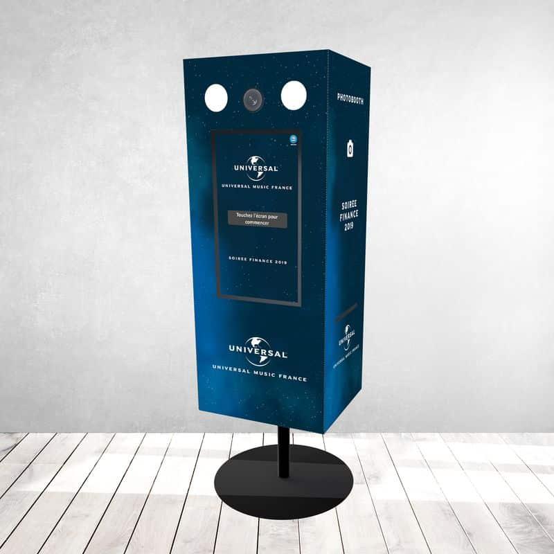 Défipix Tower, photobooth ou borne photo toute hauteur, personnalisable à impression instantanée